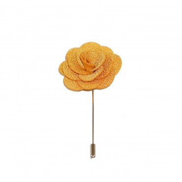 Yellow Flash Floral Lapel Pin