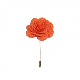 Oros Man Orange Floral Lapel Pin
