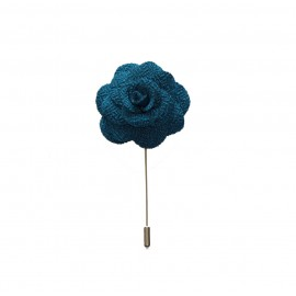 Blue Lagoon Floral Lapel Pin