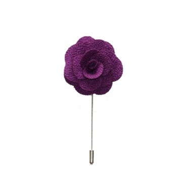 Purple Rain Floral Lapel Pin